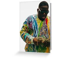 The Notorious B.I.G  Greeting Card