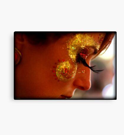 Portrait, Facepaint, Eyelashes Canvas Print