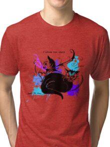 I love cats Tri-blend T-Shirt
