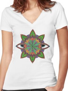 Natural Vision Women's Fitted V-Neck T-Shirt