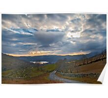 Windermere from Kirkstone Pass Poster