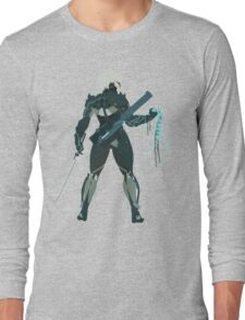 Raiden Vector Art - Metal Gear Solid/Rising Long Sleeve T-Shirt