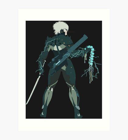 Raiden Vector Art - Metal Gear Solid/Rising Art Print
