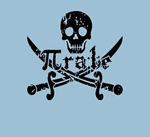 Pirate Skull and Crossbones Math Pi Rate Unisex T-Shirt