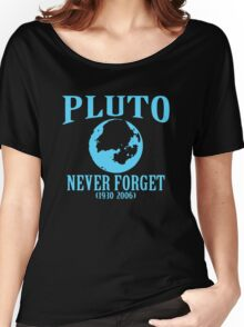 Pluto Never Forget 1930 2006 Women's Relaxed Fit T-Shirt