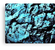 Ink abstract in blue Canvas Print