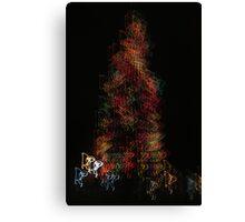 Suburb Christmas Light Series - Dancing around the Tree Canvas Print