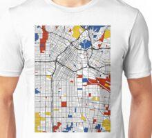 Los Angeles Mondrian map Unisex T-Shirt