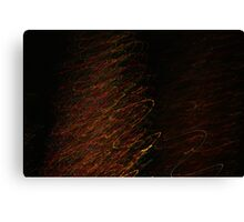 Suburb Christmas Light Series - Xmas Tree Canvas Print