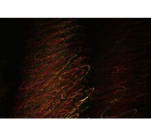 Suburb Christmas Light Series - Xmas Tree Photographic Print