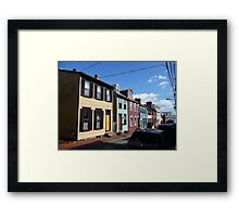Eighteenth century pastel houses in Annapolis, Maryland Framed Print
