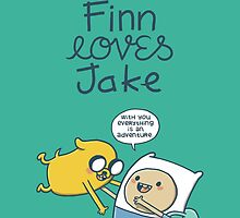 I love you as much as Finn loves Jake by Schlogger