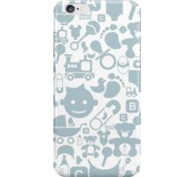 Baby a background iPhone Case/Skin