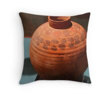 Meroitic Clay Pottery Throw Pillow