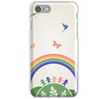 Children rainbow iPhone Case/Skin