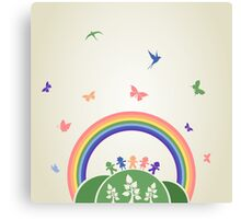 Children rainbow Canvas Print