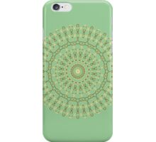 Golden Mandala on mint iPhone Case/Skin