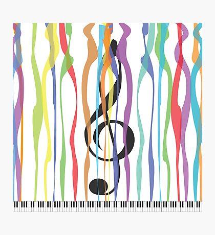 Piano & Colors Photographic Print