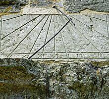 Vertical Sundial on St George's Church, Arreton by Rod Johnson