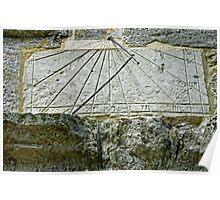 Vertical Sundial on St George's Church, Arreton Poster
