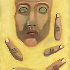 Self-portrait with Fingers by Jeffrey Rowekamp