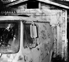 Shack with van, August 2010 by joshsteich