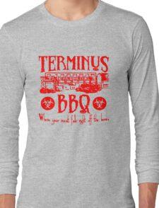 Terminus BBQ Funny Zombie Apocalypse Long Sleeve T-Shirt
