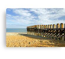 Ventnor Beach Groyne Canvas Print