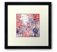 Poppy pollen. Watercolor, Abstract Drawing Framed Print