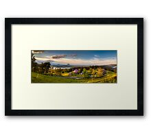 Bald Knob Road - Jacarandas  Framed Print