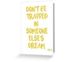 BTS/Bangtan Sonyeondan - Quote Greeting Card