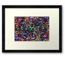 Purple Canopy Twirls Framed Print