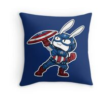 Captain Bunmerica Throw Pillow