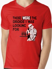 Those Were The Droids I Was Looking For Funny Mens V-Neck T-Shirt