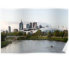 Melbourne AAMI Park at Sunset Poster