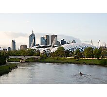 Melbourne AAMI Park at Sunset Photographic Print