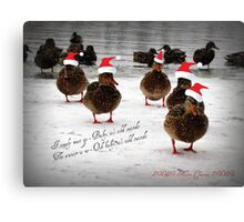 Baby it's cold outside...............................! Canvas Print