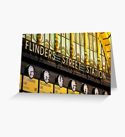 The Golden Flinders Street Station Greeting Card