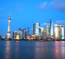Shanghai Skyline by liming tieu