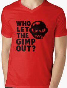 Who Let the Gimp Out Mens V-Neck T-Shirt