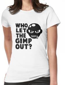 Who Let the Gimp Out Womens Fitted T-Shirt