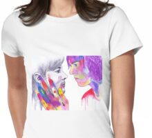 Harry and Louis Watercolor Womens Fitted T-Shirt