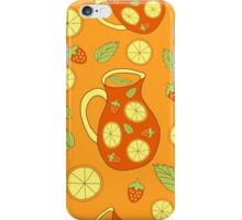 Fresh and juicy sangria iPhone Case/Skin