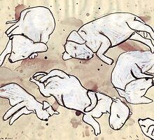 Study For Six Dead Puppies 1 by John Douglas