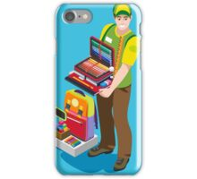Stationer Poster with Chancellery iPhone Case/Skin