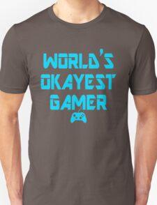 World's Okayest Gamer Funny Gaming T-Shirt