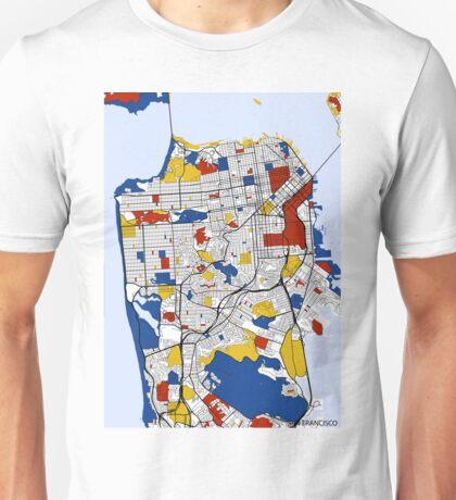 San Francisco Mondrian map Unisex T-Shirt