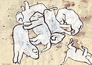 Study For Six Dead Puppies 2 by John Douglas