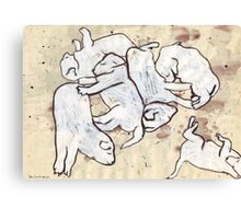 Study For Six Dead Puppies 2 Canvas Print
