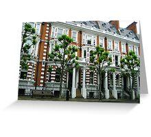 London Flat Facade Greeting Card